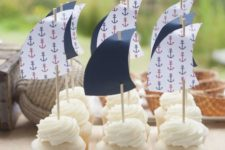 26 sail cupcake toppers for fun