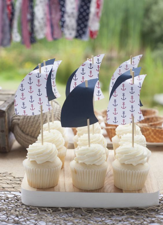sail cupcake toppers for fun