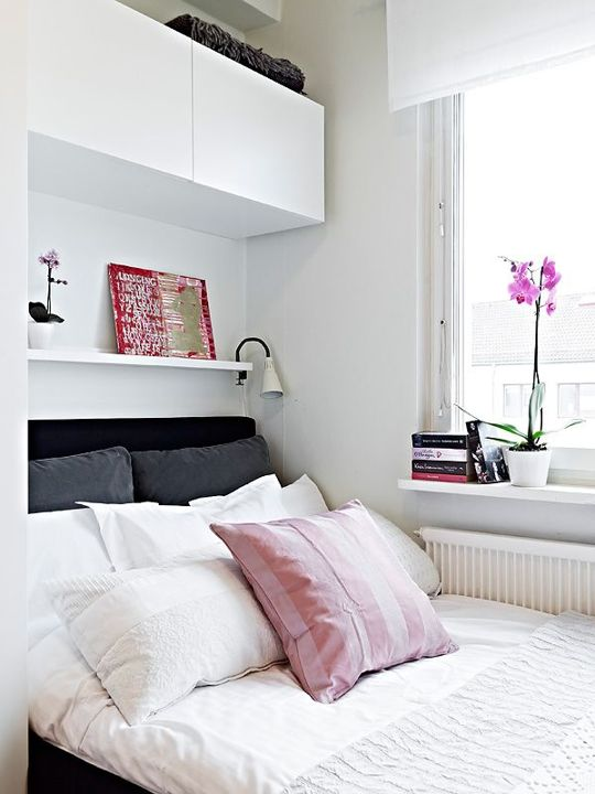 25 smart storage ideas for tiny bedrooms shelterness Small wall cabinets for bedroom