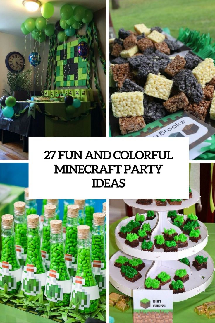 27 Fun And Colorful Minecraft Party Ideas