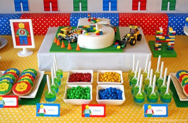 lego birthday party with super bold desserts