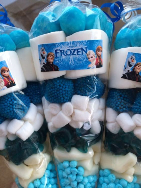 personalized loot bags for Frozen party favors