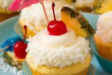 27 pine colada cupcakes