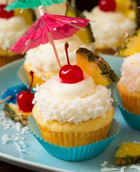 pine colada cupcakes