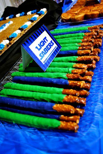 light saber pretzels for desserts