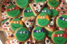 28 teenage mutant ninja turtle cookies and pizza cookies