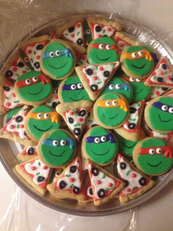 Ninja Turtle Pizza Cookie Cake