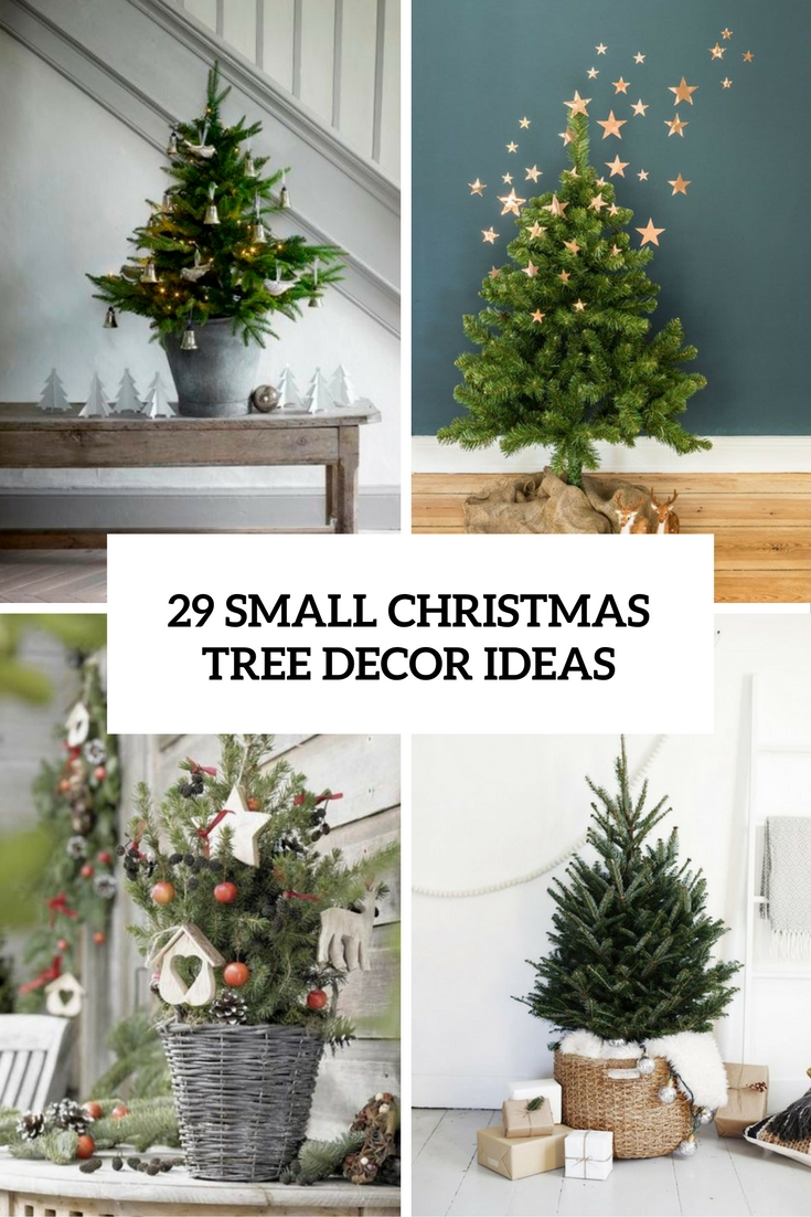 29 Small Christmas Tree Decor Ideas - Shelterness