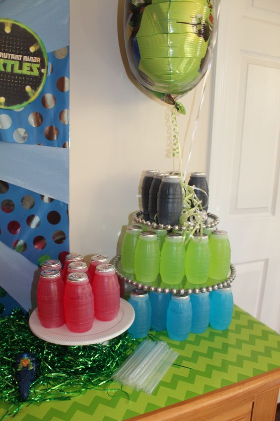 30 cool teenage mutant ninja turtles party ideas shelterness for Tmnt decorations
