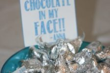 30 silver Hershey's kisses for desserts