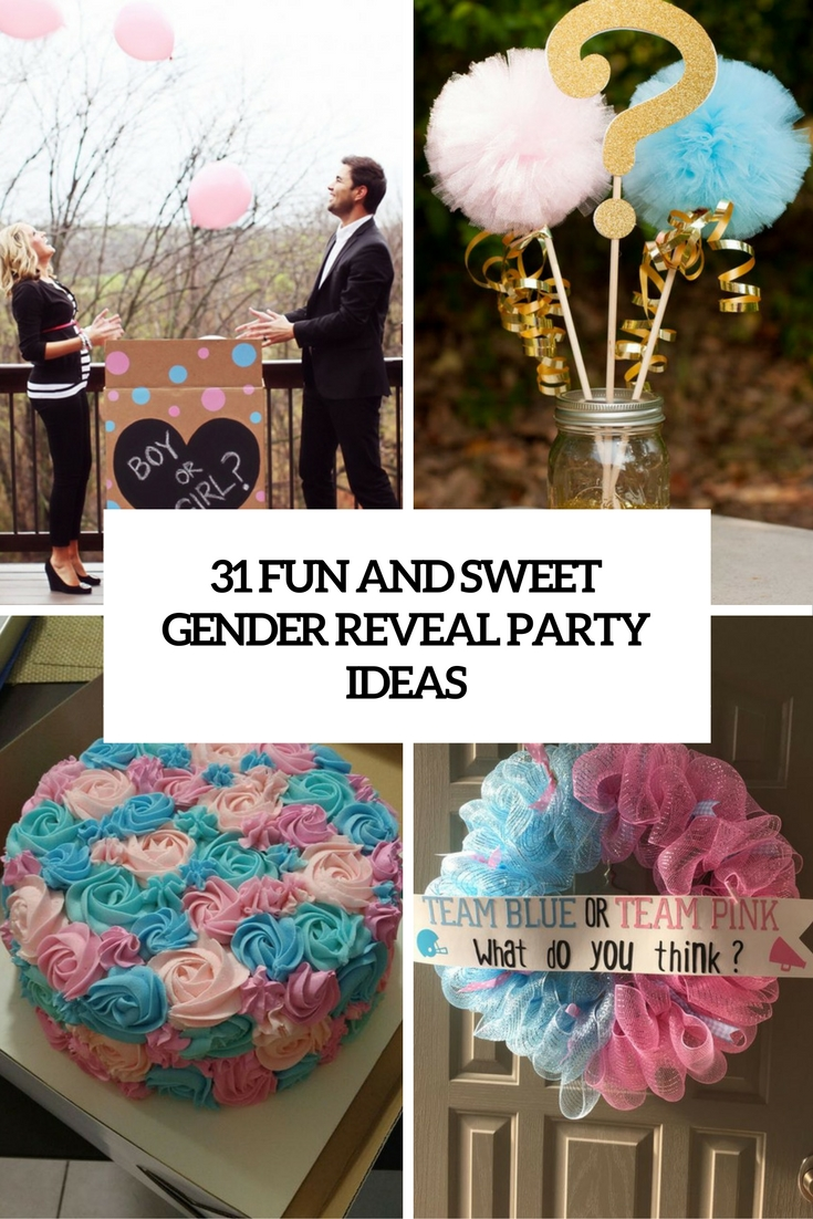 fun and sweet gender reveal ideas cover
