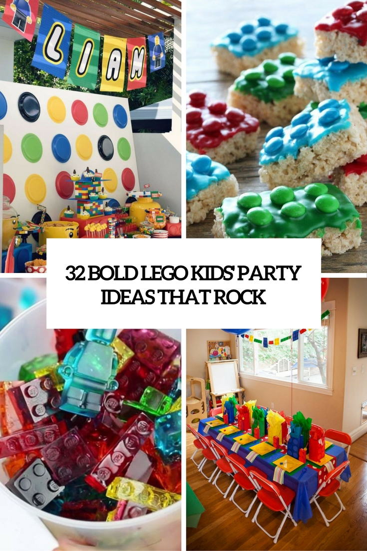 bold lego kids party ideas that rock cover