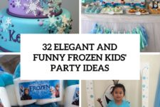 32 elegant and funny frozen kids party ideas cover