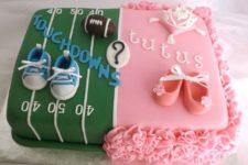 32 super fun gender reveal cake with ruffles