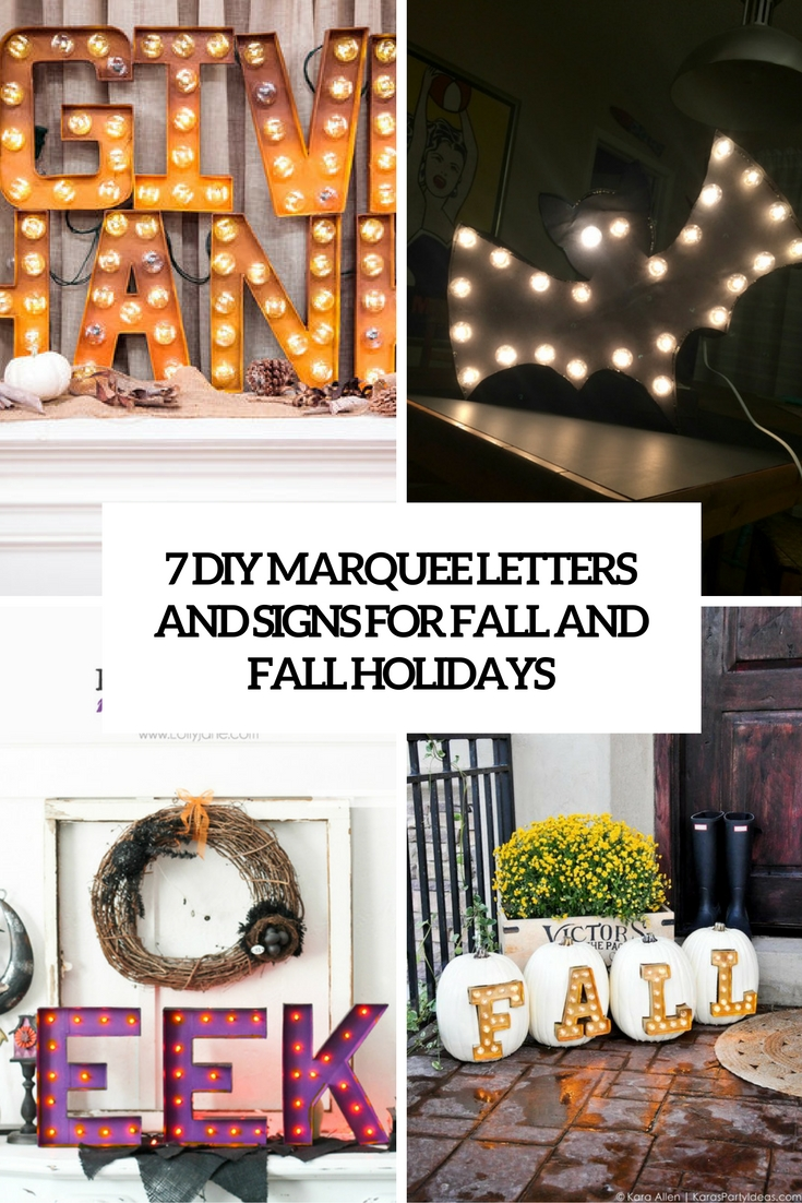 7 diy marquee letters and signs for fall and fall holidays cover