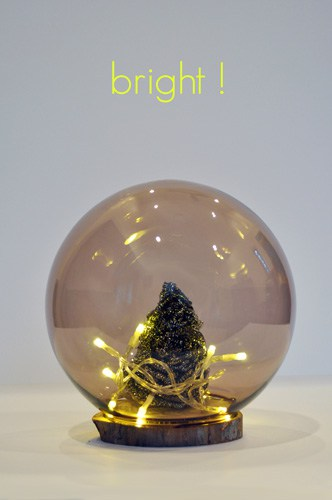 DIY smallest Christmas tree in a cloche with lights (via lifeovereasy.com)