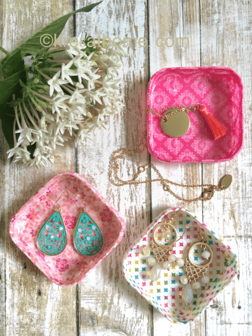 DIY mini catchall trays decorated with washi tape (via https:)