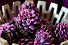 DIY wax dipped pinecone firestarters