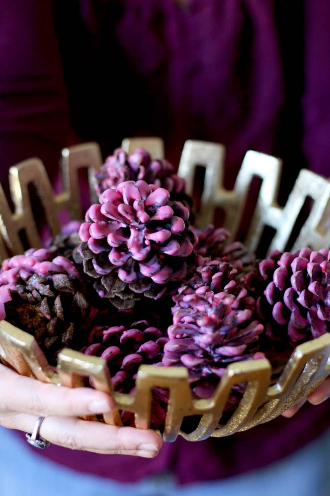 DIY wax dipped pinecone firestarters (via helloglow.co)