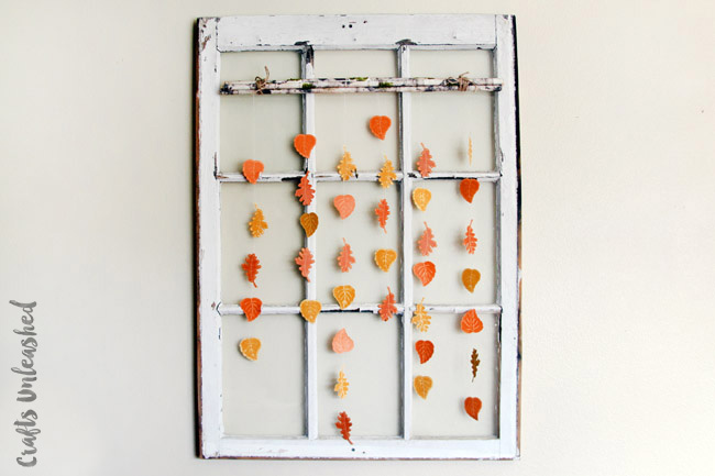 DIY fall leaves on a branch wall hanging (via blog.consumercrafts.com)