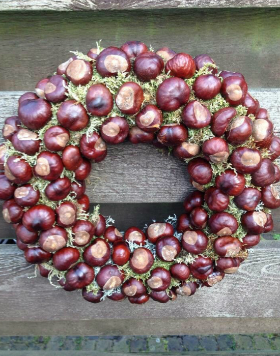 DIY chestnut wreaths (via www.nlcafe.hu)