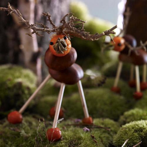 DIY kid fall crafts of chestnuts (via www.decor4all.com)