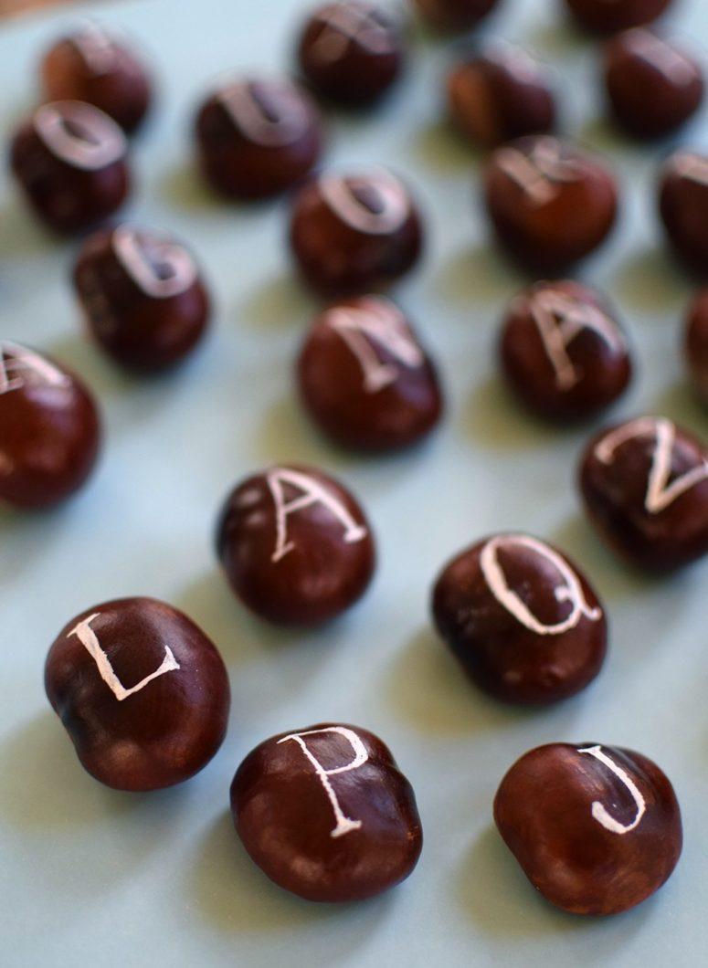 DIY chestnut alphabet for kids (via blogg.skonahem.com)