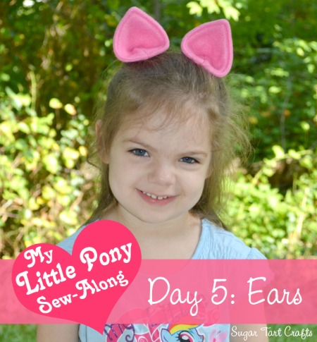 DIY My Little Pony ears for a costume (via www.sugartartcrafts.com)