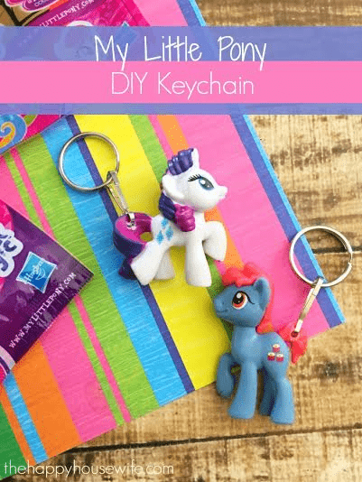 DIY My Little Pony keychains (via thehappyhousewife.com)
