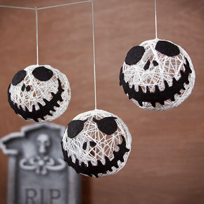 DIY Jack Skellington string garland (via https:)