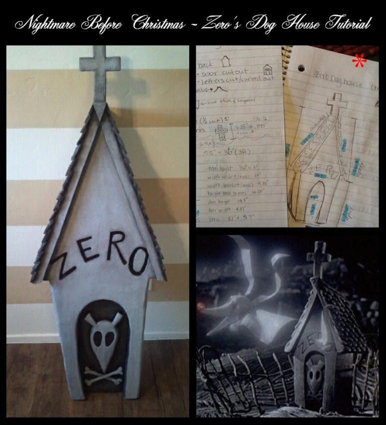 diy zero dog house from nightmare before christmas via diynmbcpropsblogspotru