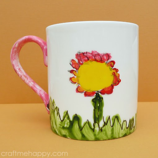 DIY painted by kids mugs (via www.craftmehappy.com)