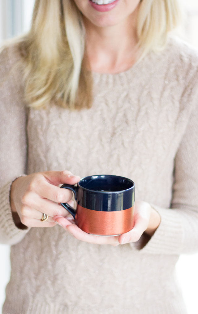 DIY dipped copper coffee mug (via www.designimprovised.com)