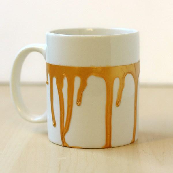 DIY paint drip mug