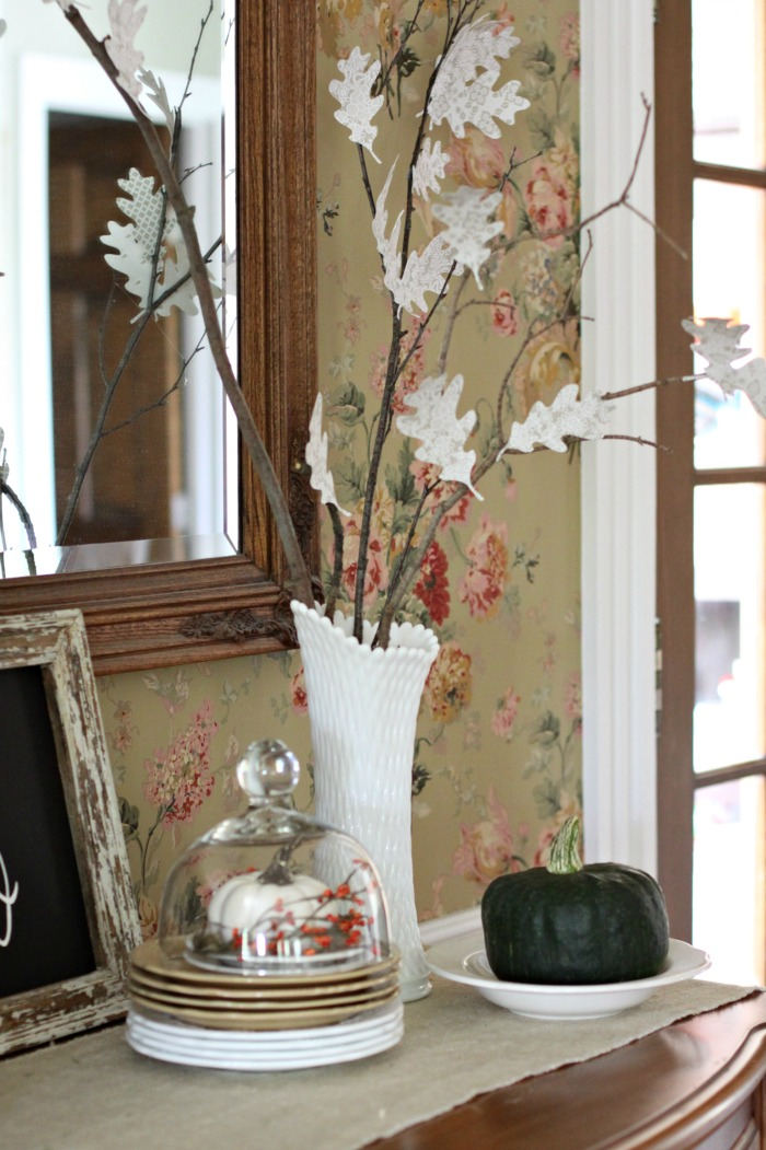 DIY paper leaf branches for fall decor (via loveofhome.net)