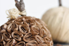 unique DIY brown paper pumpkin