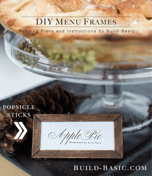 DIY menu frames made of popsicle sticks (via build-basic.com)