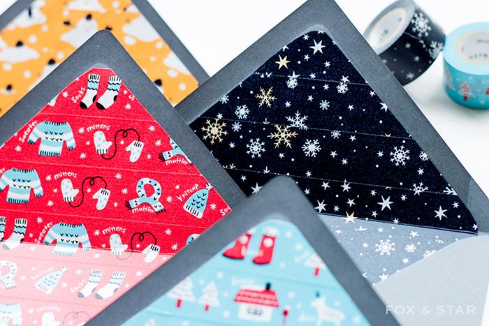 DIY washi tape envelope liners (via https:)