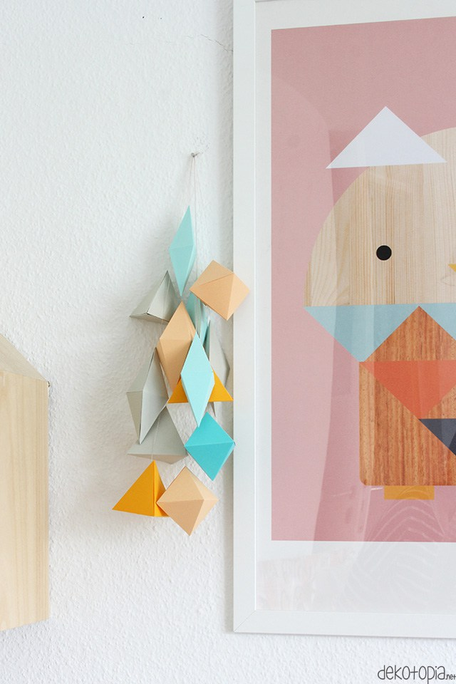DOY 3D geometric paper wall hangings (via www.dekotopia.net)