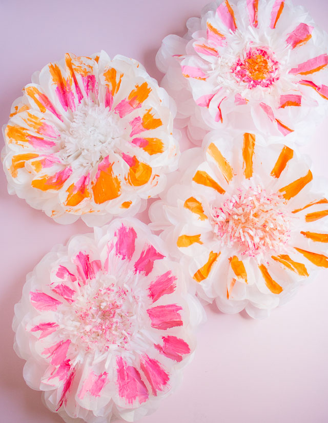 DIY tissue paper giant flowers (via www.designimprovised.com)