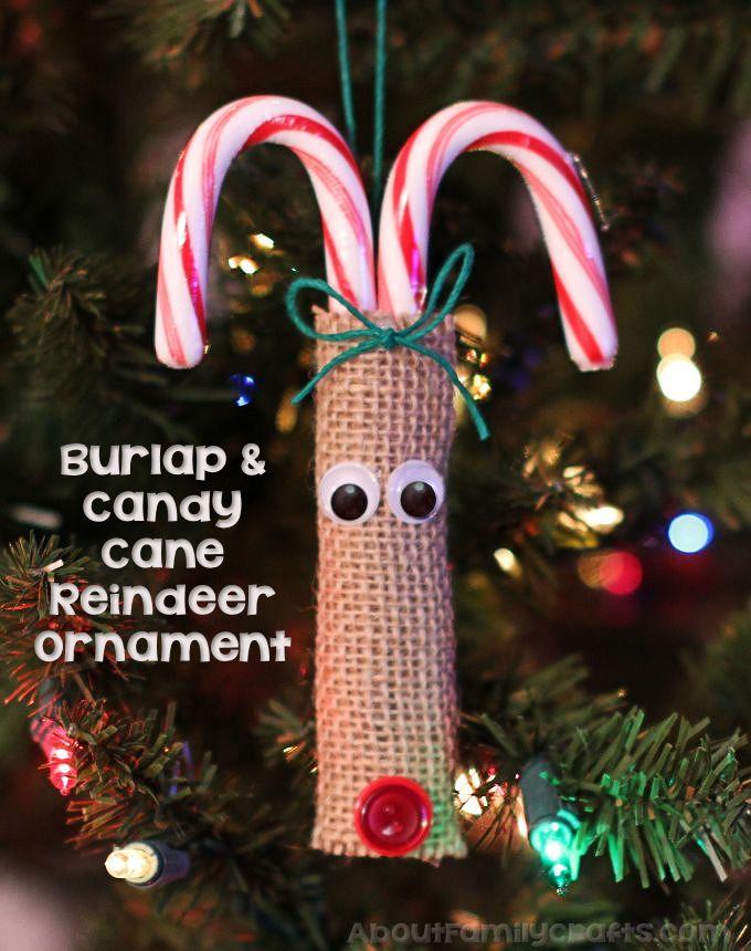DIY candy cane reindeer ornament (via aboutfamilycrafts.com)