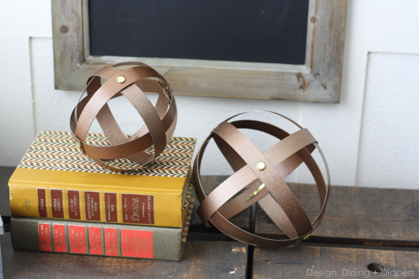 DIY industrial spheres made from cereal boxes