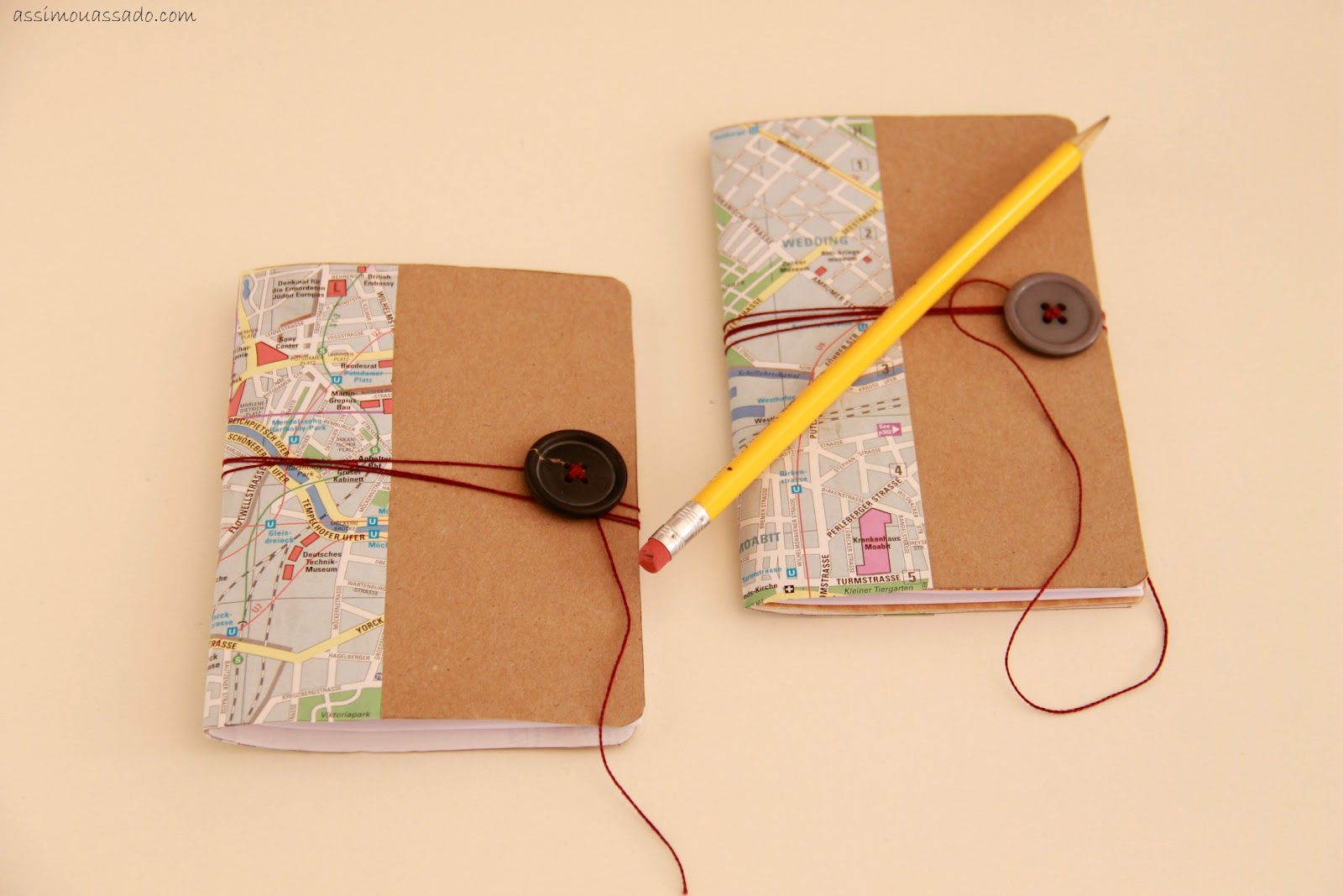 DIY personalized notebooks of cereal boxes