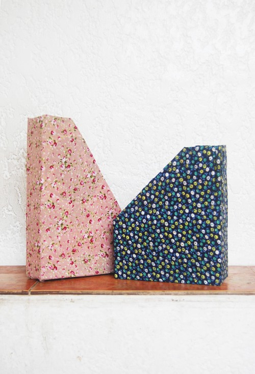 DIY cereal box file holders (via www.shelterness.com)