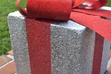 DIY holiday gift box for Christmas outdoor decor