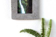 DIY minimalist concrete picture frame