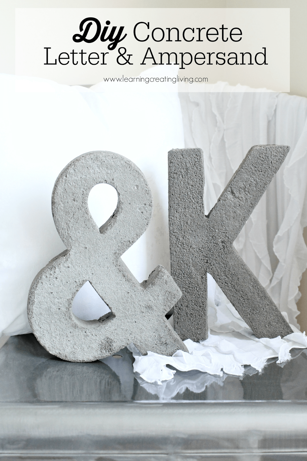 DIY concrete letter and ampersand