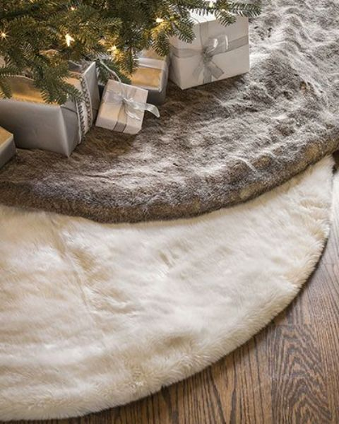 faux fur tree skirts are elegant and fit any decor style