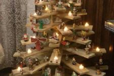 05 3D Christmas tree of pallets used as shelves