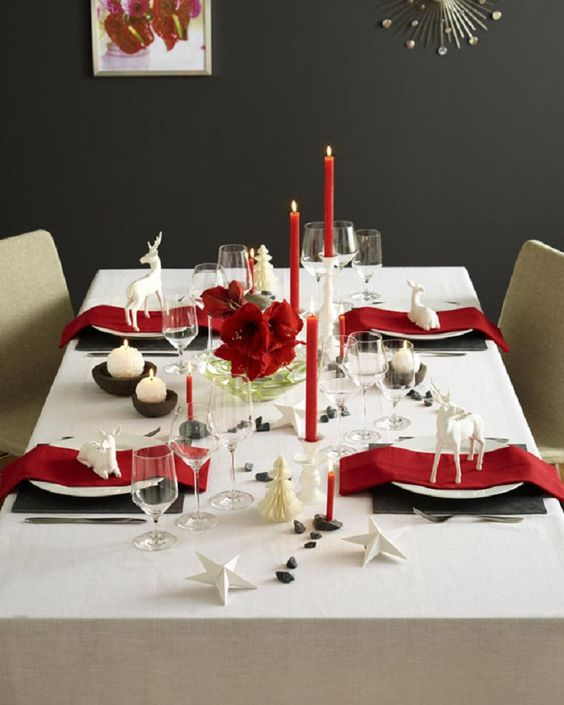 21 Modern Christmas Table Settings To Get Inspired - Shelterness